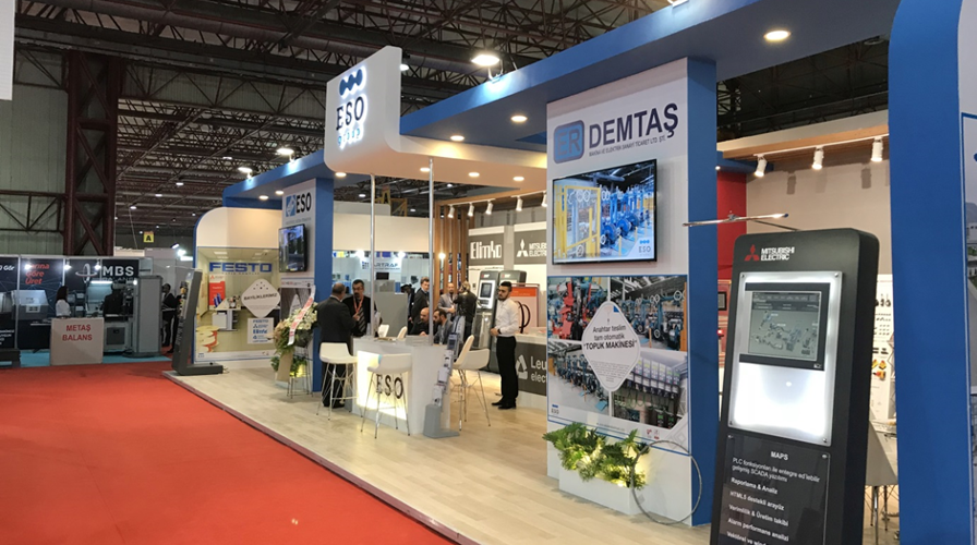Erdemtaş Makine Met with the Industry at Santek 2017 Exhibition